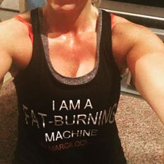 #iamafatburningmachine today and everyday at 4:30am.  What are you??? My friend @marcilockmentor taught me the power of I AM statements. Today I am confident have a presentation to give and I am not 100% sure what I am getting into but I am going to rock the crowd!!with my information on diabetes!! #type1diabetes #postworkout #fitforlife #cardio #liftingweights #eflrealchicks #teamjonnystraws #driven #selflove #neverfail by sjhaviland