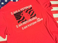 I am a Veteran, I am deplorable and I am voting for Trump Men's T shirt by SupportVeterans on Etsy https://www.etsy.com/listing/467241784/i-am-a-veteran-i-am-deplorable-and-i-am