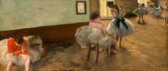 Edgar Degas, The Dance Lesson, c. 1879, oil on canvas, National Gallery of Art, Washington,   Collection of Mr. and Mrs. Paul Mellon.