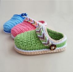 Tribal Baby Clogs Crochet Pattern