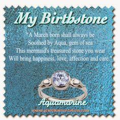 Aquamarine my birthstone, birthstone poem, March