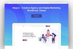 Negoci - Creative Agency and Digital Marketing WordPress Theme Seo Digital Marketing, Online Marketing, Seo Agency, Marketing Training, Creative Portfolio, Start Up Business, Creative Business, Wordpress Theme, Web Design