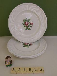 WEDGWOOD ~EDME - MOSS ROSE~ salad plates x 3