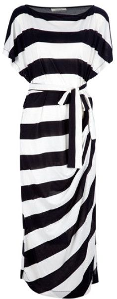 By Malene Birger Takinhi Stripe Dress in Black