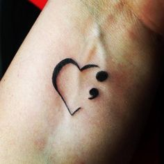 Traditional Semicolon Tattoo Design On Hand For Girls