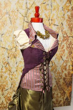 NEWBust 32 to 34Deep Plum Empire Corset with by damselinthisdress, $159.00