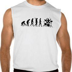 Evolution drummer sleeveless tee Tank Tops