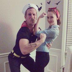 Couple Halloween Costume Popeye Rosie the Riveter