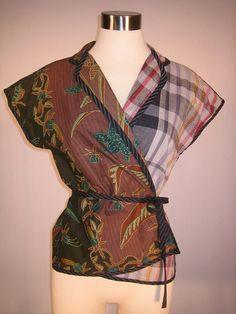 Vintage 1980's Koos Van Den Akker wrap blouse by Vegas Laveau Vintage, via Flickr