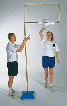 Spike It Volleyball Trainer - maybe I can make using PVC pipes