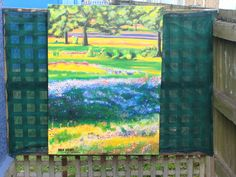 'Blue bonnets and Paintbrushes- Texas'-  a large painting