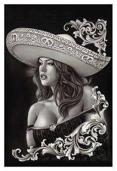 310296ee7 Ceeze Charra by Big Ceeze Fine Art Print. Latina TattooTattoo DrawingsAztec  ArtPaper ArtTop TattoosSexy ...