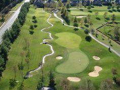Hole at Covered Bridge Golf Club Covered Bridges, Golf Clubs, Golf Courses, Covered Decks