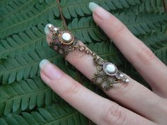 Hey, I found this really awesome Etsy listing at https://www.etsy.com/listing/204517710/double-armor-ring-double-chained-ring