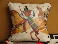 Ledger Art Pillow www.chrisgalushaleather.com