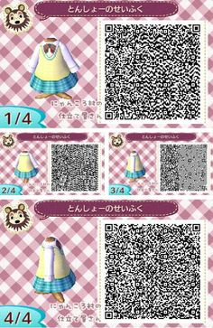Animal Crossing New Leaf outfit schoolgirl uniform