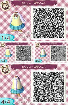 Animal Crossing New Leaf outfit schoolgirl uniform