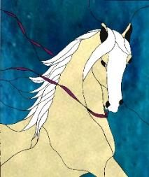 Stained Glass Horse Pattern Book