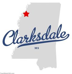 Map of Clarksdale Mississippi MS