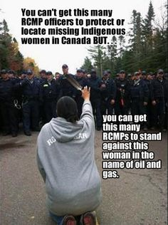 #Elsipogtog #ElsipogtogSolidarity My son asked me why is there violence against women? Its against the law! In Elsipogtog First Nation successor state soldiers come to stand against its women defending clean water for their baby girls, but do nothing to investigate missing women.