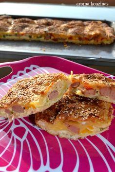 Άρωμα Κουζίνας: Λουκανικόπιτα της στιγμής Cookbook Recipes, Cooking Recipes, French Toast, Sandwiches, Breakfast, Food, Inspiration, Morning Coffee, Biblical Inspiration