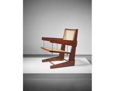 PIERRE JEANNERET Rare 'Swinging Seat' armchair, circa 1953