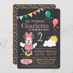 Carousel Birthday Parties, Pirate Birthday, Barbie Birthday, 1st Birthday Girls, Birthday Party Themes, Birthday Ideas, Minnie Mouse 1st Birthday, Disney Birthday, Tea Party Invitations