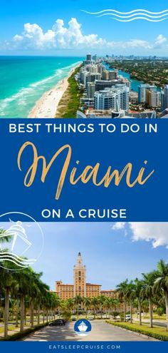 Best Things to Do in Miami on a Cruise - We take a look at all of the things you can do in Miami before or after your next Caribbean cruise. Bermuda Vacations, Bahamas Vacation, Cruise Vacation, Best Vacations, Cruise Excursions, Cruise Destinations, Packing List For Cruise, Cruise Tips, Caribbean Cruise