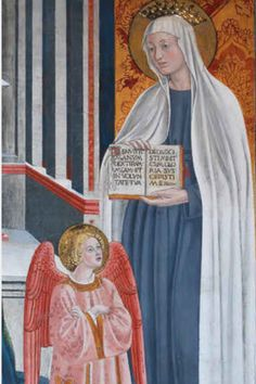 St Frances of Rome with her Guardian Angel who was always visible to her. I love this saint.