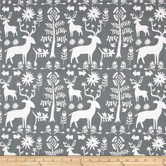 Screen printed on cotton duck, this versatile, lightweight fabric is perfect for window accents (draperies, valances, curtains and swags), accent pillows, duvet covers and other home decor accents. Create handbags, tote bags, aprons and more. Colors include grey and white.