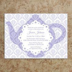 Tea Party Invitation - Tea Party Invite - Baby Shower Invitation - Bridal Shower Invitation - Birthday Invite - DIY Printable Invitation. $20.00, via Etsy.