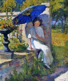 ☂ Paper Lanterns and Parasols ☂ Japonisme Art and Illustration -Mary Bradish Titcomb | The Blue Parasol