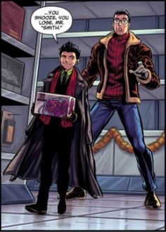 Damian Wayne and Clark Kent in the DC Rebirth Holiday Special