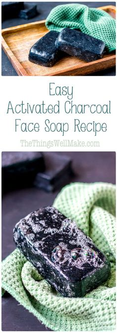 This activated charcoal face soap recipe is simple enough for beginner soapmakers, yet results in an impressive bar of cleansing, yet moisturizing face soap. (Diy Soap)