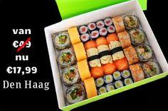 'Repin' wanneer je meer sushi deals in Den Haag wilt zien. Nu luxe sushi box in #DenHaag, tijdelijk €17,99 voor 2 personen. Druk de volgende link om de #sushi #actie te zien: http://goo.gl/uXIa4z