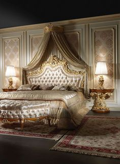 Amazing and Unique Victorian Bedroom Design Ideas. Applying Main Victorian Bedroom Design Ideas in your home can be very fun, especially for women, who dream to live like a queen. Most people prefer th. Classic Bedroom Furniture, Modern Bedroom, Luxury Furniture, Bedroom Classic, Wooden Furniture, Baroque Furniture, Classic Interior, Furniture Layout, Trendy Bedroom
