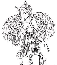154 Best Angels To Color Images Angel Drawing Fantasy Drawings