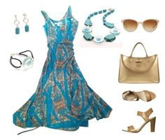 """""""Turquoise blue"""" by hippie67 ❤ liked on Polyvore featuring Diane Von Furstenberg, Longchamp, Verali and Tiffany & Co."""