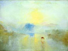 j.w. turner | Norham Castle , Sunrise. (circa 1845)