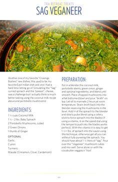 Low fat raw vegan sag veganeer…east indian dish