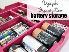 Perfect Battery Storage solution from a thrift store find! Step by step tutorial