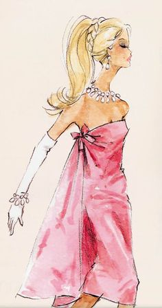 Barbie illustration by Robert Best. Robert Best is one of my favourites! Very much inspired by him.