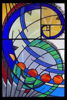 From Helix Glass Studios - the Fibonacci sequence, aka Spiral.