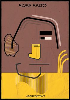 Alvar Aalto Archiportrait by Federico Babina