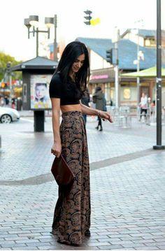 Outfit con pantalon muy holgado