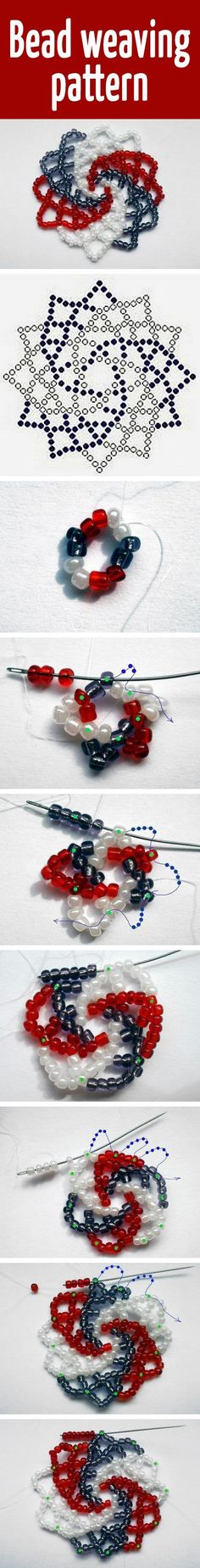 Seed bead jewelry Bead weaving pattern Discovred by : Linda Linebaugh