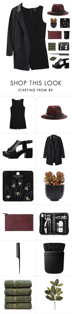 """ You wanna see if I bleed. "" by centurythe ❤ liked on Polyvore featuring Monki, rag & bone, Topshop, Lux-Art Silks, Violeta by Mango, Royce Leather, GHD, NARS Cosmetics and sleevelessjumpsuits"