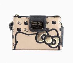 Hello Kitty Crossbody Bag: Gold Bow