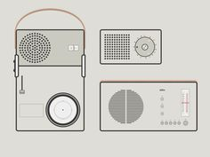 I love everything about Dieter Rams, so decided to iconify some of his ~icons~ on design, just for fun and to learn more about the style. Take a look at for first are:- Braun Dieter Rams Design, Braun Dieter Rams, Pocket Radio, Electronics Projects, Page Design, Industrial Design, Service Design, Icon Design, Cool Designs