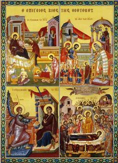 The Life of Virgin Mary Religious Icons, Religious Art, Christian Church, Christian Faith, Orthodox Christianity, Orthodox Icons, Virgin Mary, Jesus Christ, Prayers
